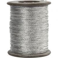 Anhängerband, Dicke 0,5 mm, Silber, 100 m/ 1 Rolle