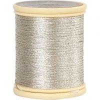 DMC Metallfaden, Dicke 0,36 mm, Silber, 40 m/ 1 Rolle