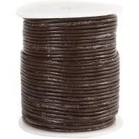 Lederband, Dicke 2 mm, Braun, 50 m/ 1 Rolle