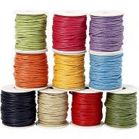 Baumwollkordel, Dicke 2 mm, Kräftige Farben, 10x25 m/ 1 Pck