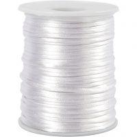 Satinband, Dicke 2 mm, Weiß, 50 m/ 1 Rolle
