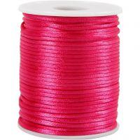 Satinband, Dicke 2 mm, Pink, 50 m/ 1 Rolle