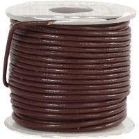 Lederband, Dicke 1 mm, Braun, 10 m/ 1 Rolle