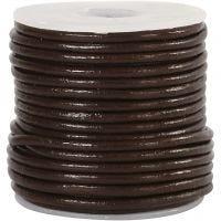 Lederband, Dicke 2 mm, Braun, 10 m/ 1 Rolle