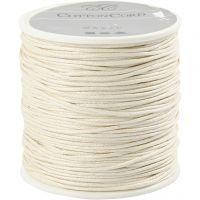 Baumwollband, Dicke 1 mm, Naturweiß, 40 m/ 1 Rolle