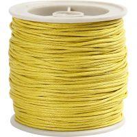 Baumwollband, Dicke 1 mm, Gelb, 40 m/ 1 Rolle