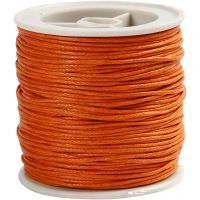 Baumwollband, Dicke 1 mm, Orange, 40 m/ 1 Rolle