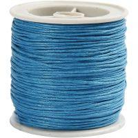 Baumwollband, Dicke 1 mm, Türkis, 40 m/ 1 Rolle