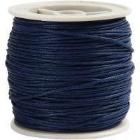 Baumwollband, Dicke 1 mm, Blau, 40 m/ 1 Rolle