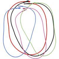 Elastische Halsbändchen mit Verschluss, L 46 cm, Stärke 1,65 mm, sortierte Farben, 5 sort. / 1 Pck