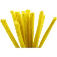 Pfeifenreiniger, L: 30 cm, Dicke 9 mm, Gelb, 25 Stk/ 1 Pck