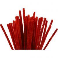 Pfeifenreiniger, L: 30 cm, Dicke 6 mm, Rot, 50 Stk/ 1 Pck
