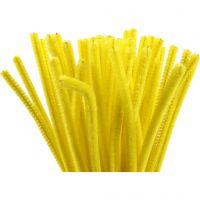 Pfeifenreiniger, L: 30 cm, Dicke 6 mm, Gelb, 50 Stk/ 1 Pck