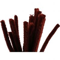 Pfeifenreiniger, L: 30 cm, Dicke 15 mm, Altrot, 15 Stk/ 1 Pck