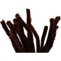 Pfeifenreiniger, L: 30 cm, Dicke 15 mm, Braun, 15 Stk/ 1 Pck