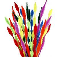 Pfeifenreiniger, Wellenform, L: 30 cm, Dicke 5-12 mm, Sortierte Farben, 28 sort./ 1 Pck