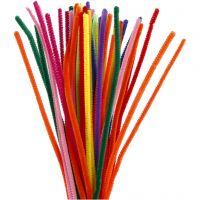 Pfeifenreiniger, L: 30 cm, Dicke 6 mm, Sortierte Farben, 50 sort./ 1 Pck