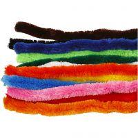 Pfeifenreiniger, Dick, L: 45 cm, Dicke 25 mm, Sortierte Farben, 60 sort./ 1 Pck