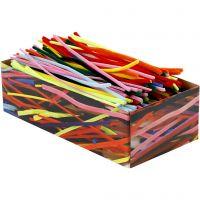 Pfeifenreiniger, L: 30 cm, Dicke 4+6+9 mm, Sortierte Farben, 700 sort./ 1 Pck