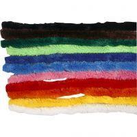 Pfeifenreiniger, L: 30 cm, Dicke 15 mm, Sortierte Farben, 200 sort./ 1 Pck