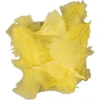 Federn, Größe 7-8 cm, Gelb, 500 g/ 1 Pck
