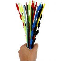 Pfeifenreiniger, L: 30 cm, Dicke 5-12 mm, Sortierte Farben, 30 Stk/ 1 Pck