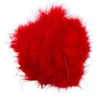 Federn, Größe 5-12 cm, Rot, 15 Stk/ 1 Pck