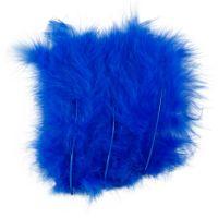 Federn, Größe 5-12 cm, Blau, 15 Stk/ 1 Pck
