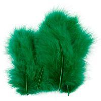 Federn, Größe 5-12 cm, Grün, 15 Stk/ 1 Pck