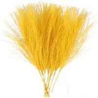 Künstliche Federn, L: 15 cm, B: 8 cm, Gelb, 10 Stk/ 1 Pck