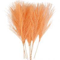 Künstliche Federn, L: 15 cm, B: 8 cm, Orange, 10 Stk/ 1 Pck