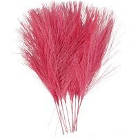 Künstliche Federn, L: 15 cm, B: 8 cm, Pink, 10 Stk/ 1 Pck
