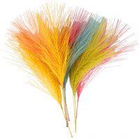 Künstliche Federn, L: 15 cm, B: 8 cm, Sortierte Farben, 10 Stk/ 1 Pck