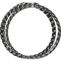Aluminiumdraht, diamond-cut, Dicke 2 mm, Schwarz, 7 m/ 1 Rolle