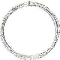 Aluminiumdraht, diamond-cut, Dicke 2 mm, Silber, 7 m/ 1 Rolle