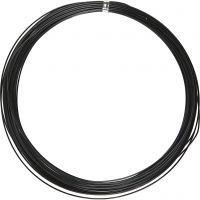 Aluminiumdraht, rund, Dicke 1 mm, Schwarz, 16 m/ 1 Rolle