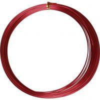 Aluminiumdraht, rund, Dicke 1 mm, Rot, 16 m/ 1 Rolle