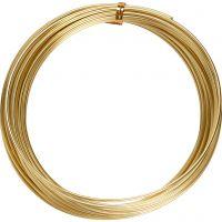 Aluminiumdraht, rund, Dicke 2 mm, Gold, 10 m/ 1 Rolle