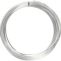 Aluminiumdraht, rund, Dicke 2 mm, Silber, 10 m/ 1 Rolle