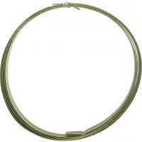Aluminiumdraht, flach, B: 15 mm, Dicke 0,5 mm, Grün, 2 m/ 1 Rolle