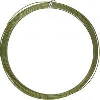 Aluminiumdraht, flach, B: 3,5 mm, Dicke 0,5 mm, Grün, 4,5 m/ 1 Rolle