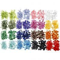 Mini-Mosaik, Größe 5x5+10x10 mm, 32x25 g/ 1 Pck
