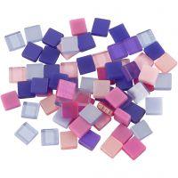 Mini-Mosaik, Größe 5x5 mm, Lila/Dunkellila, 25 g/ 1 Pck