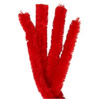 Pfeifenreiniger, L: 40 cm, Dicke 30 mm, Rot, 4 Stk/ 1 Pck
