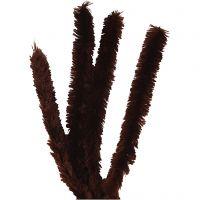 Pfeifenreiniger, L: 40 cm, Dicke 30 mm, Braun, 4 Stk/ 1 Pck