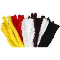 Pfeifenreiniger, L: 40 cm, Dicke 30 mm, Sortierte Farben, 48 Stk/ 1 Pck