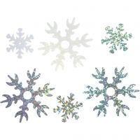 Pailletten - Sortiment, D: 25+45 mm, Hellblau, Silber, Weiß, 250 g/ 1 Pck