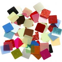 Pailletten-Mosaik, Größe 10x10 mm, Sortierte Farben, 10 g/ 1 Pck