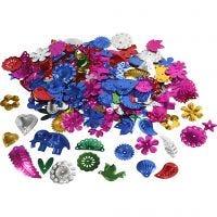 Pailletten, Größe 15-45 mm, Kräftige Farben, 400 g/ 1 Pck