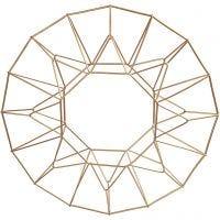 Anhänger aus Metall, Ring, D: 28 cm, Messing, 1 Stk